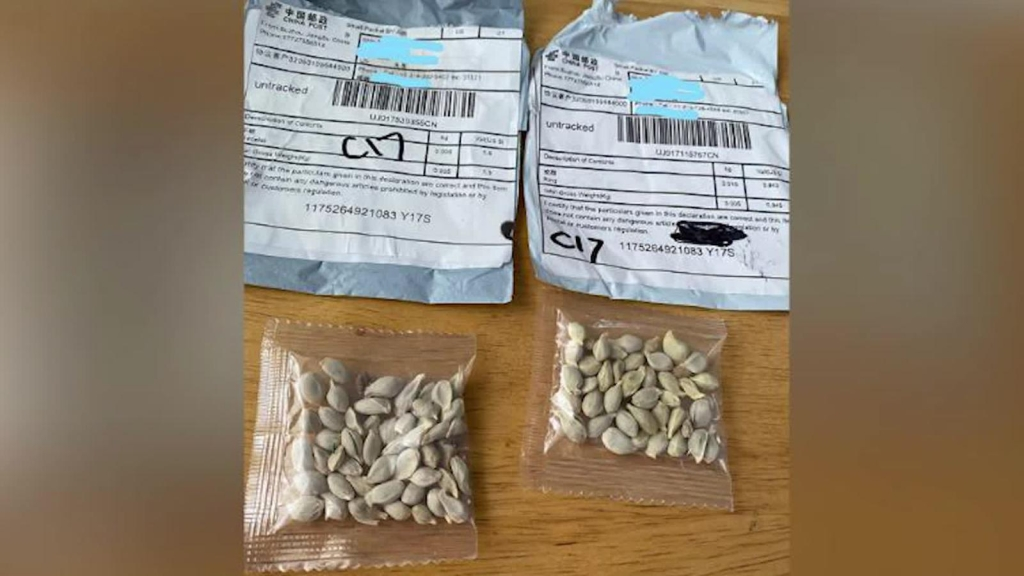 US: Alert for seeds allegedly from China