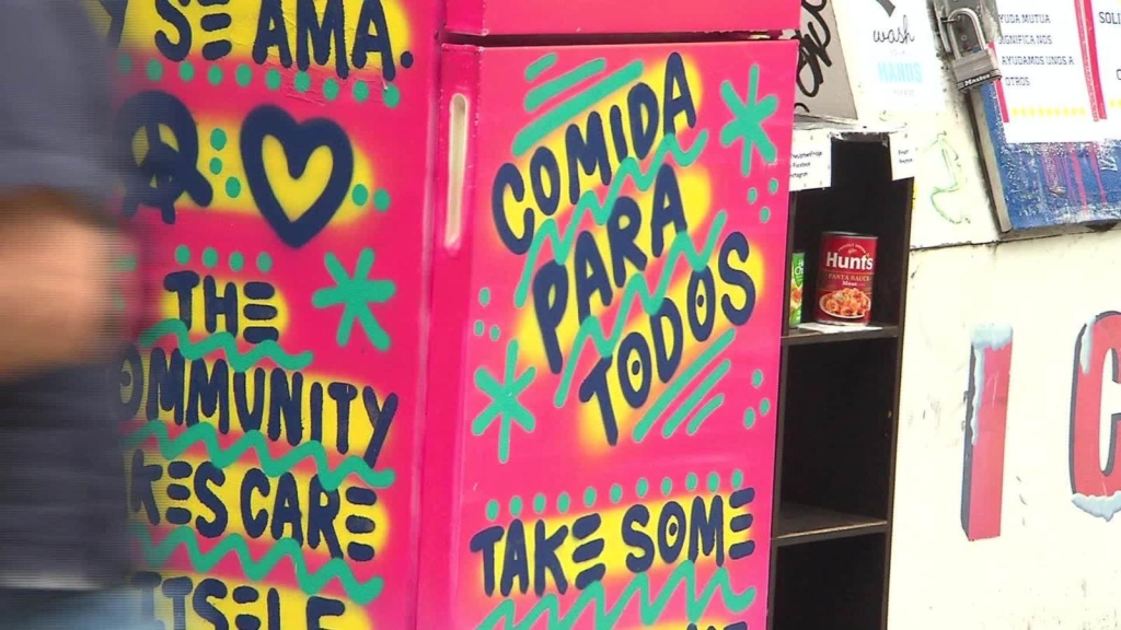 Colorful refrigerators offer free food in times of covid-19