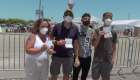 Colombian family traveled to the US to get vaccinated