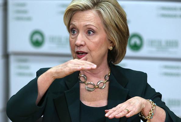 Hillary Clinton busca por segunda vez ser presidenta de EE.UU. (Crédito:Justin Sullivan/Getty Images)