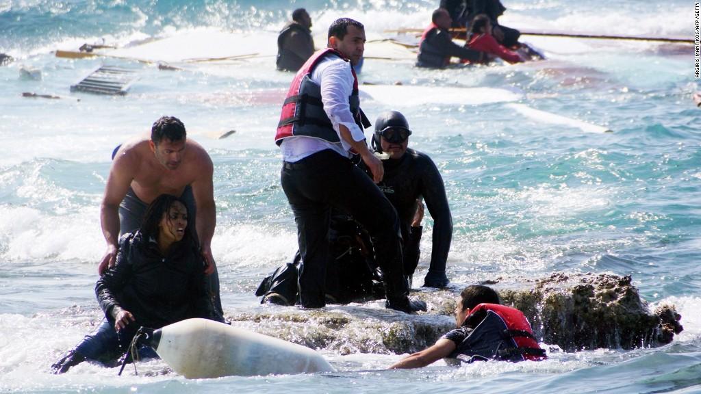 Crisis humanitaria en el Mediterráneo. Siria es el país desde donde más personas tratan de llegar a Europa en barco.