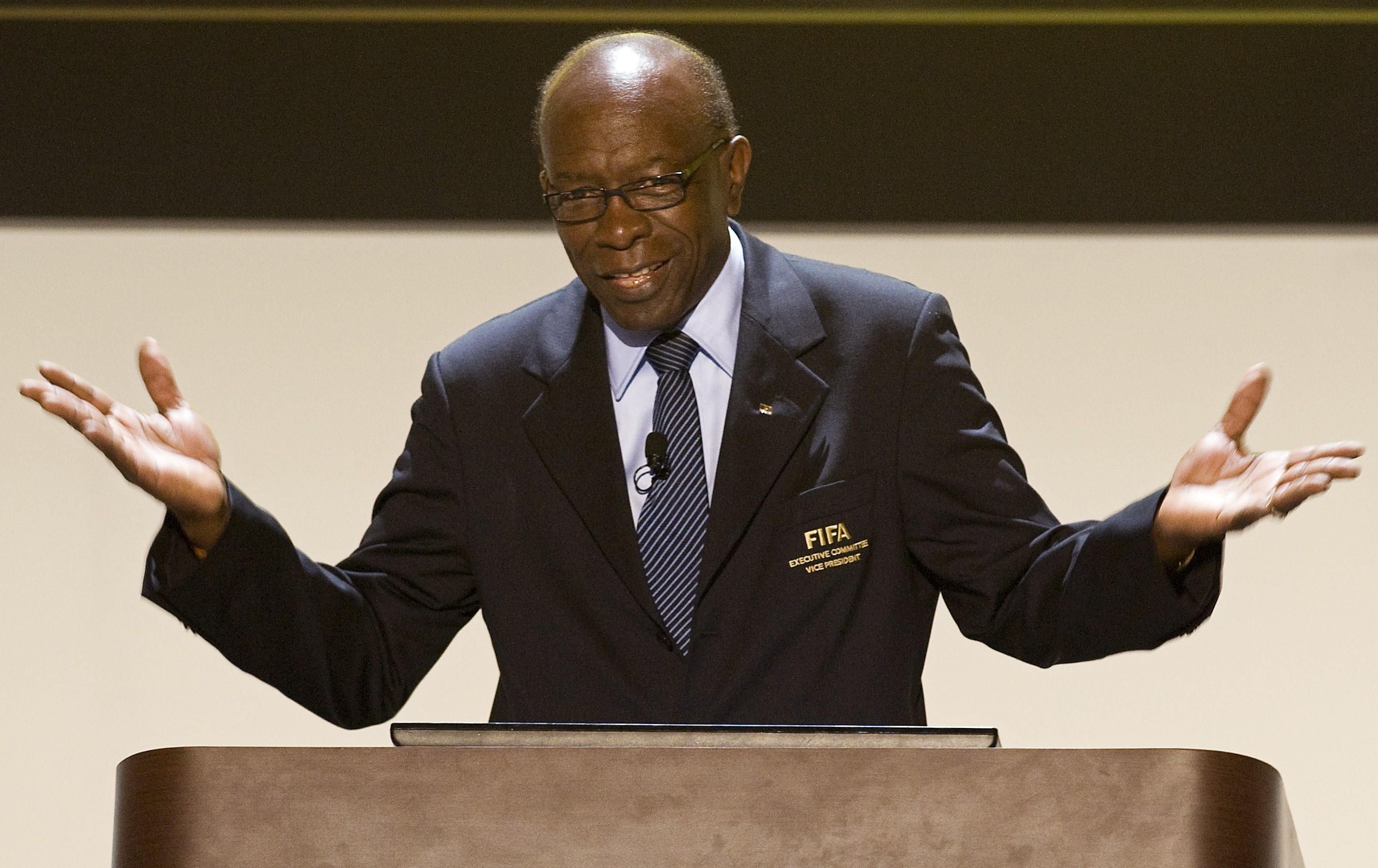 Jack Warner, de Trinidad y Tobago, ex miembro del comité y antecesor de Webb en la presidencia de la Concacaf. (LUIS ACOSTA/AFP/Getty Images)