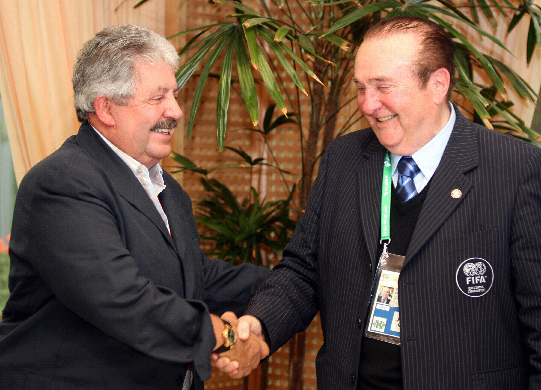 Rafael Esquivel, (izquierda) presidente de la Federación Venezolana de Fútbol (Getty Images)