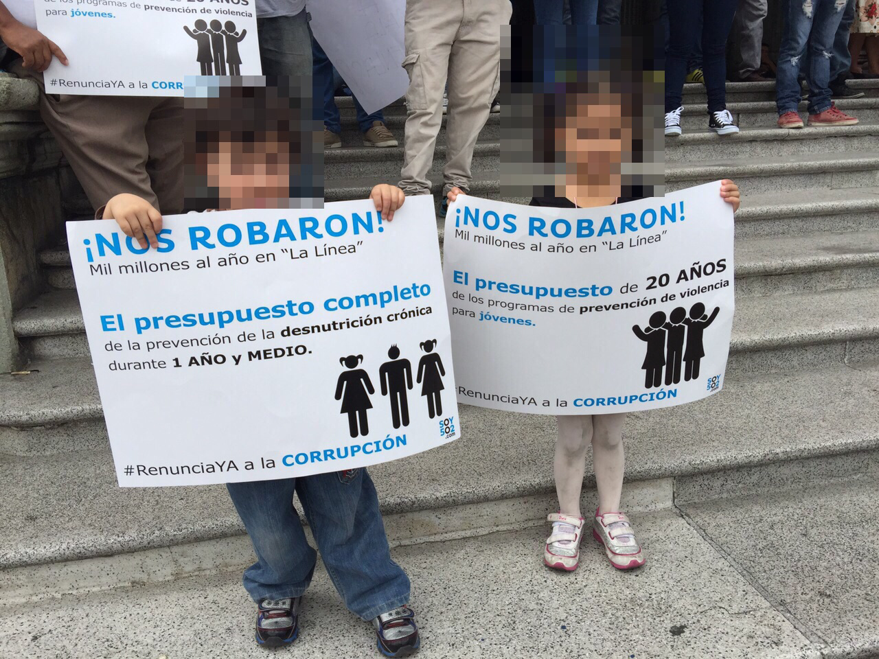 Manifestantes de todas las edades
