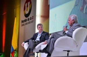 El presidente Santos le respondió a Nicolás Maduro en el desarrollo de la convención del Partido de Unidad Nacional, al que pertenece, este viernes 5 de junio en Bogotá. (Crédito: Presidencia Colombia/Efrain Herrera)