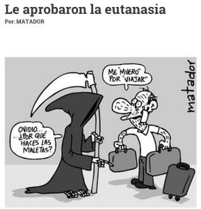 """""""Me 'muero' por Viajar"""", la caricatura de Matador sobre la situación de su padre. (Crédito: El Tiempo/Matador)"""