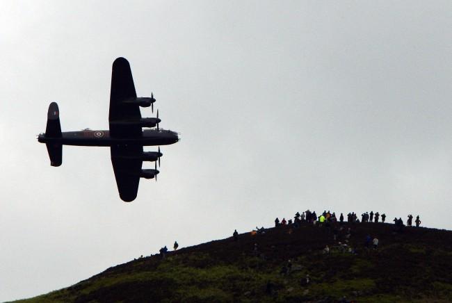 Munro piloteó el famoso bombardero Lancaster de la RAF.
