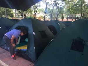 64 familias más llegaron de Venezuela y fueron llevados a un nuevo refugio en la ciudad de Cúcuta. (Crédito: CNN/MVL)