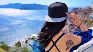 Wang Zi, de 28 años de edad, diseñadora de modas, eligió un tatuaje de un globo aerostático.