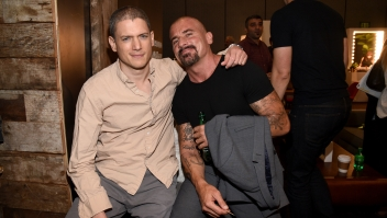 Wentworth Miller Dominic Purcell Prison Break Portrait Studio Powered By Samsung Galaxy At Comic-Con International 2015 at Hard Rock Hotel San Diego on July 11, 2015 in San Diego, California.
