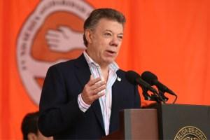 El presidente de Colombia Juan Manuel Santos durante la Caminata de la Solidaridad, organizada por la Fundación Solidaridad por Colombia, donde se refirió a la situación fronteriza. (Crédito: Presdiencia Colombia/SIG)