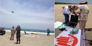Foto: Profepa Drones para vigilar playas Oaxaca tortuga golfina