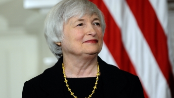 Economist Janet Yellen smiles as US President Barack Obama announces her nomination for as Federal Reserve chairman at the White House in Washington, DC, on October 9, 2013. Yellen, 67, will be the first woman ever to lead the Fed, and is widely expected to sustain Bernanke's focus on supporting the US economy until joblessness can be brought down. AFP Photo/Jewel Samad (Photo credit should read JEWEL SAMAD/AFP/Getty Images)