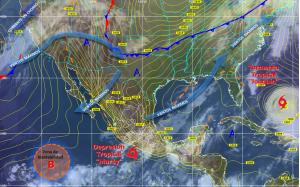 'Marty' ahora es depresión tropical según el Servicio Meteorológico Nacional de México. (Crédito: Cortesía CONAGUA)
