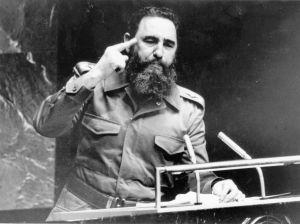 Fidel Castro en la Asamblea General de la ONU en 1979. (Crédito: Keystone/Getty Images)