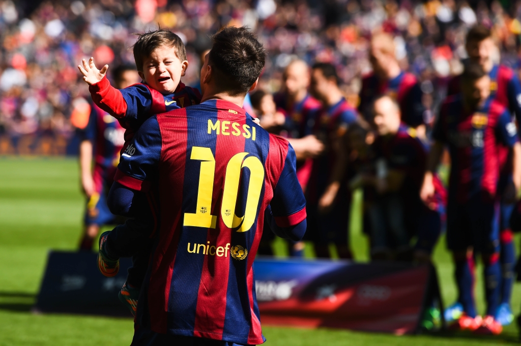 <> at Camp Nou on March 8, 2015 in Barcelona, Spain.