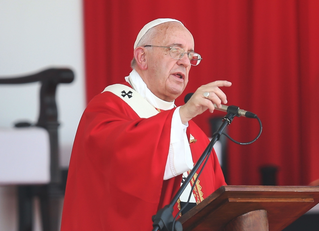 El papa Francisco durante su homilía en Holguín, Cuba. Crédito: Joe Raedle/Getty Images