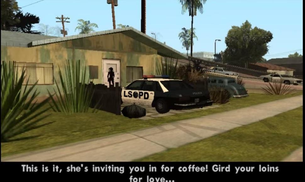 "El café sexual en ""Grand Theft Auto: San Andreas"""