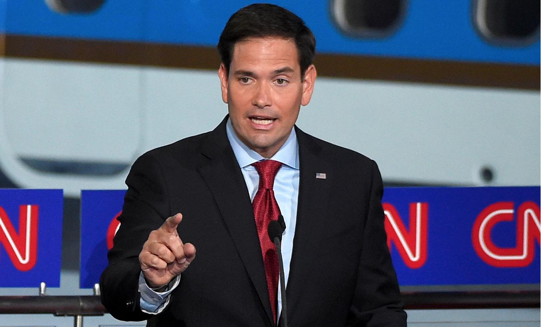 Marco Rubio en el debate CNN.