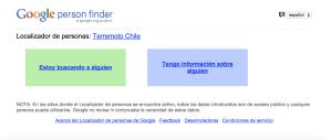 Google y Facebook ayudan en el terremoto de Chile tecnología PErson Finder