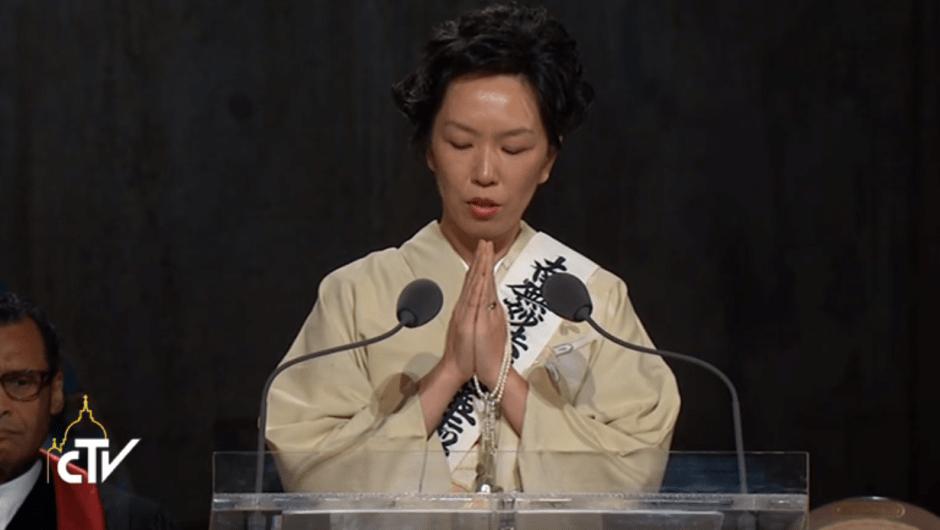 Oración interreligiosa Zona Cero papa Francisco Nueva York budista oración al buda
