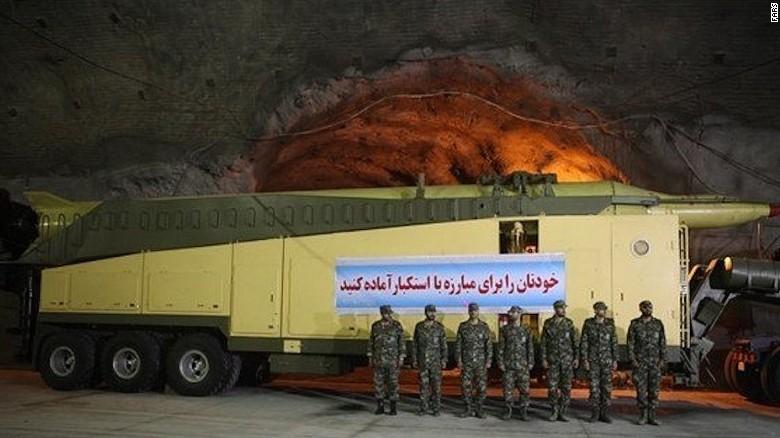 Irán difunde imágenes de un arsenal secreto subterráneo