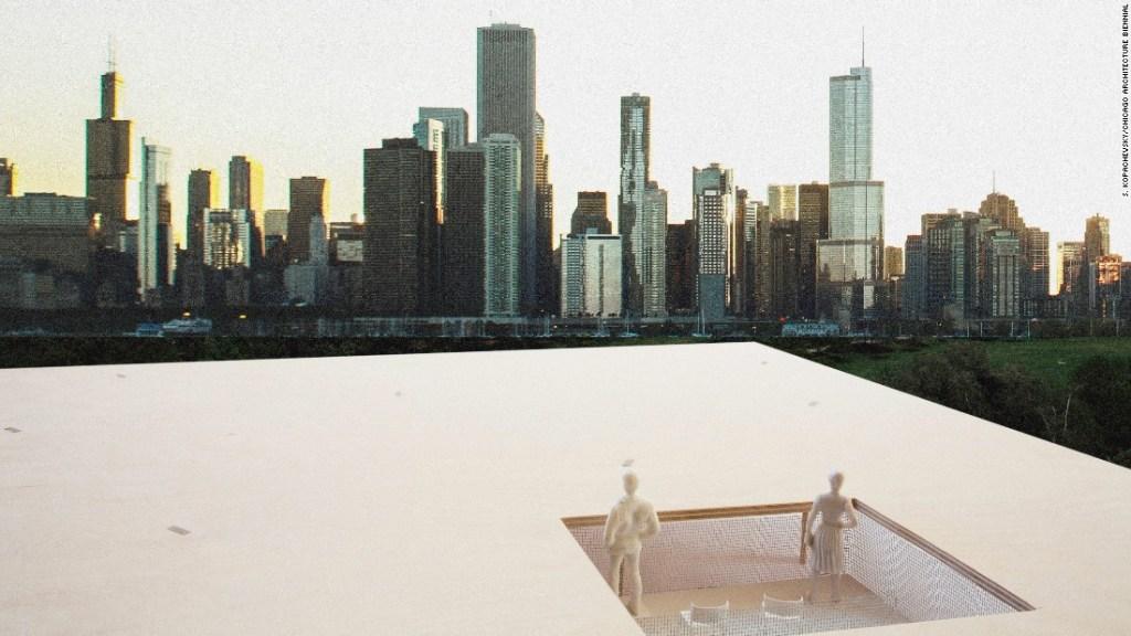 La Bienal de Arquitectura de Chicago también preparó el concurso Lakefront Kiosk, el cual invitó a los arquitectos para diseñar un quiosco a lo largo de la ribera. Se anunció que los ganadores fueron Ultramoderne Architects. (Crédito: S. Kopachevsky/Bienal de Arquitectura de Chicago)