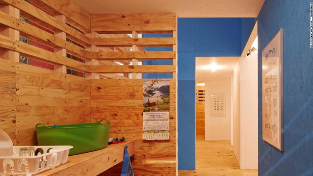 Vivienda unifamiliar de Tatiana Bilbao (Crédito: Bienal de Arquitectura de Chicago)