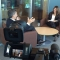 Mauricio Macri (izq.) durante la entrevista con Patricia Janiot.