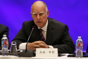 Jerry Brown, gobernador de California. (Crédito: Matt Mills McKnight-Pool/Getty Images)