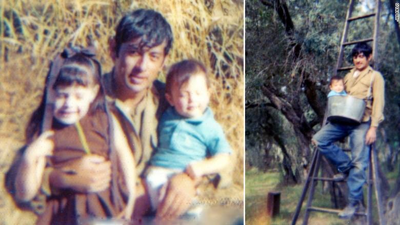 Los padres de Melo eran granjeros en el Norte de California. En la foto, él y su hermana.