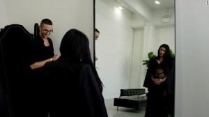 Kim Kardashian antes del show de Primavera-Verano 2016 de Givenchy.