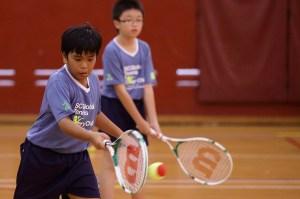 'Tenis para todos los niños' es un programa deportivo para los niños de las escuelas de Singapur para ampliar la participación de los niños en el tenis y construir un legado para el deporte de ese país. (Crédito: Suhaimi Abdullah/Suhaimi Abdullah for SC Global)