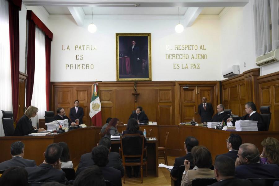 La Suprema Corte de México durante la discusión sobre la legalización de la marihuana para uso recreativo (AFP/Getty Images).