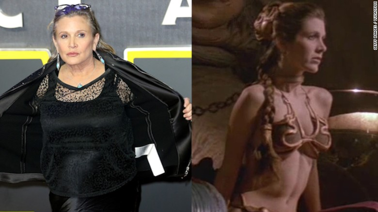 """Carrie Fisher regresó como Leia en """"Star Wars"""", pero muchos de los fanáticos al parecer esperaban verla igual."""