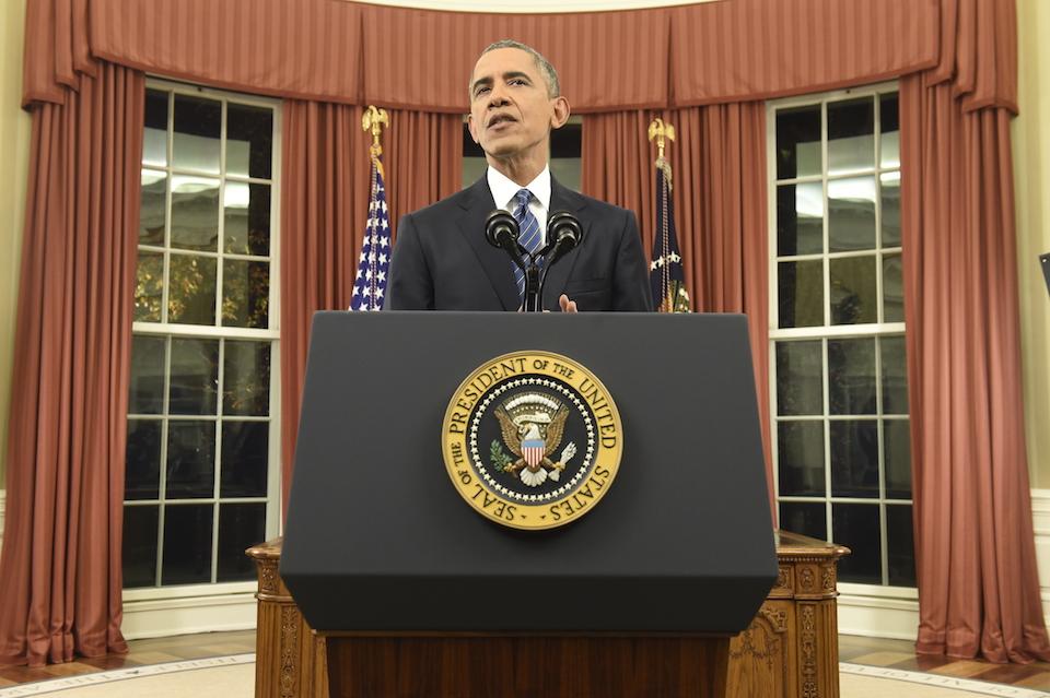 Presidente Barack Obama se dirige a la nación para hablar sobre el tiroteo en San Barnardino. (Crédito: Saul Loeb-Pool/Getty Images)