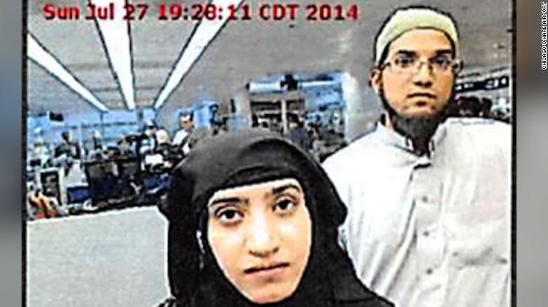 Los atacantes de San Bernardino Syed Farook y su esposa, Tashfeen Malik.