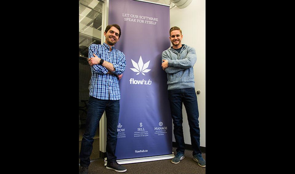 Kyle Sherman y Chase Wiseman, co-fundadores de Flowhub.