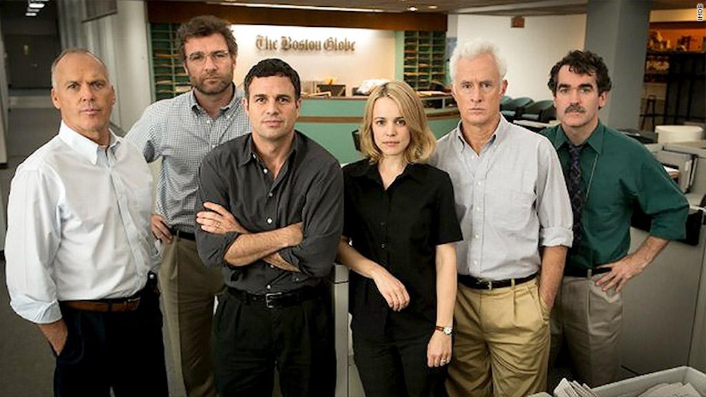 """Los seis actores que interpretaron a los reporteros de """"Spotlight""""."""