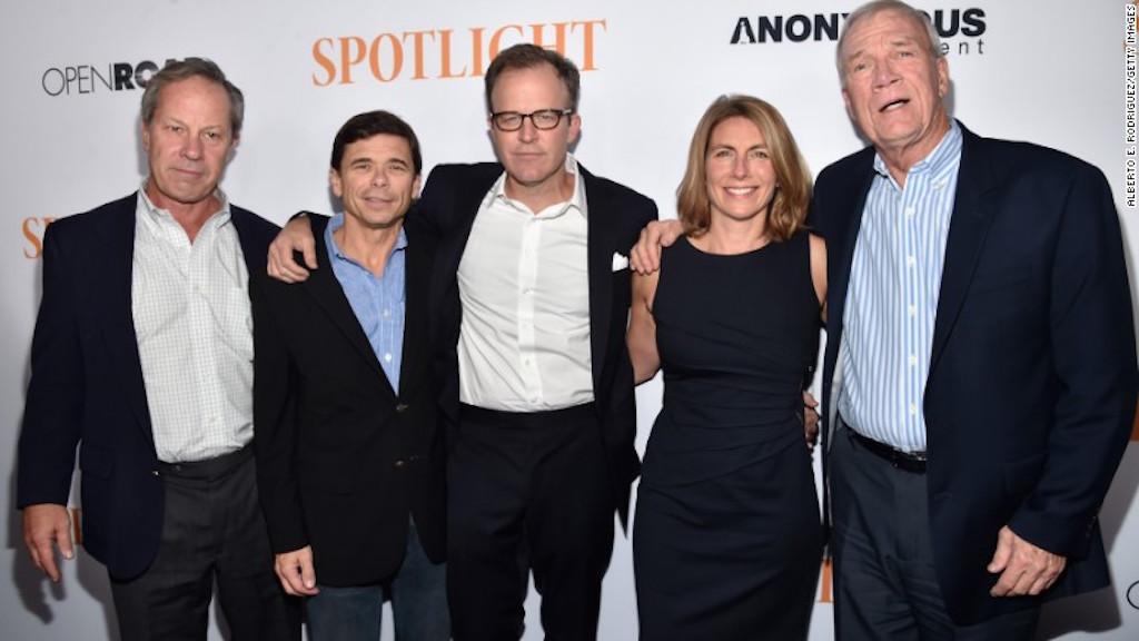 Los periodistas reales de 'Spotlight'.