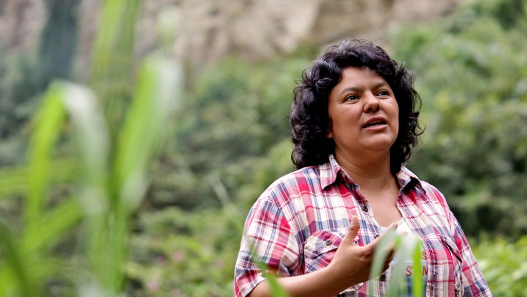 Berta Cáceres (Crédito: The Goldman Enviromental Prize)