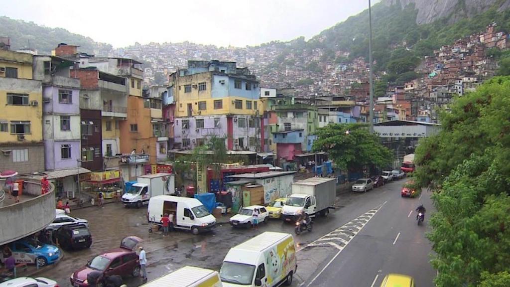 La favela en la que Araujo y Alves viven.