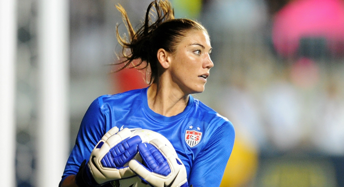 Hope Solo. Crédito: Drew Hallowell/Getty Images