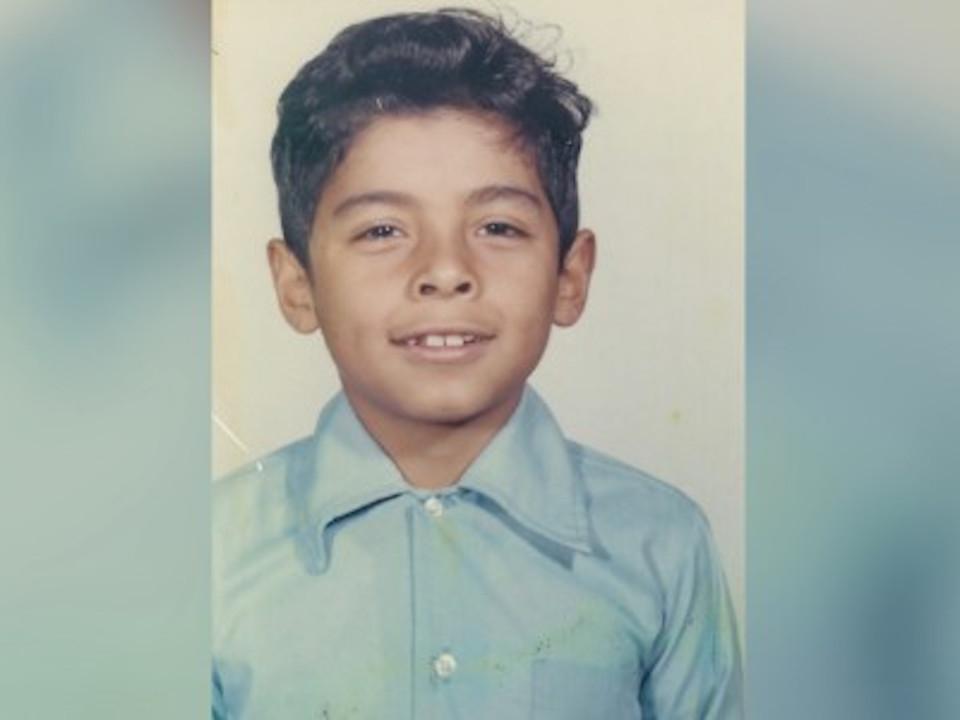 José Hernández a los 7 años.