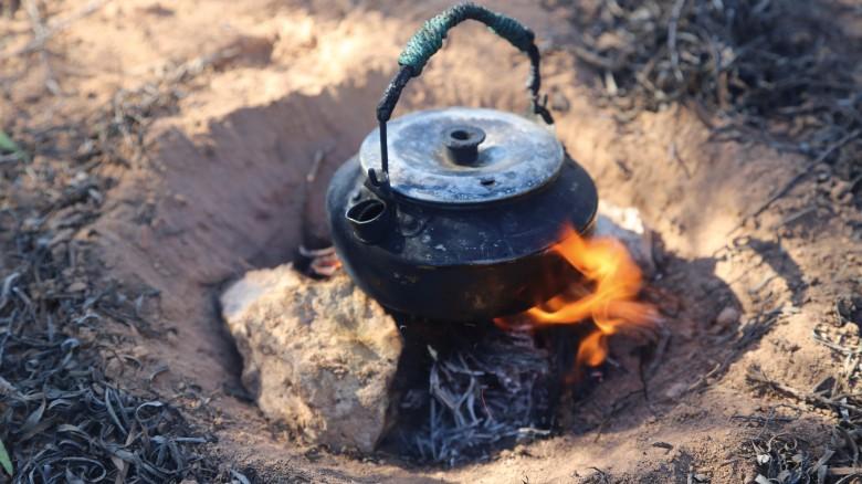 Marquis calcula que ella bebió aproximadamente 3.000 tazas de té durante su recorrido.