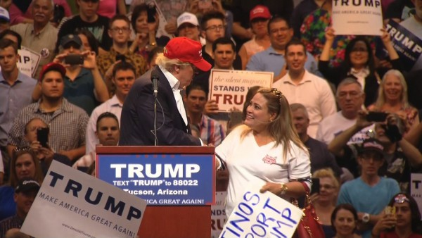 Arizona restaurant owner faces backlash after appearing onstage with Donald Trump