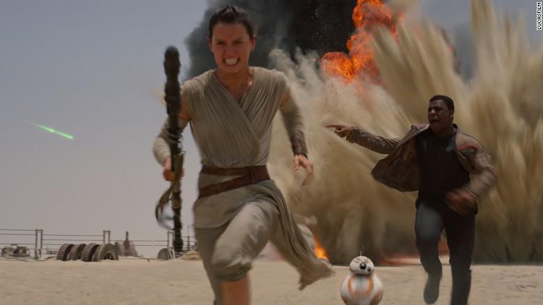 Una escena de Star Wars: El Despertar de la Fuerza.