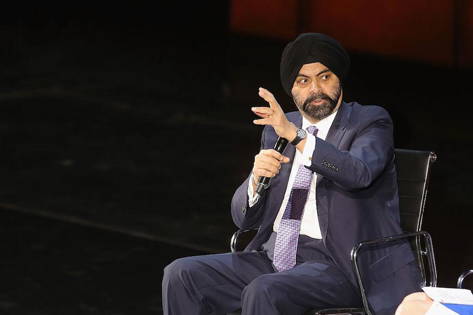 Anjay Banga, president y CEO de MasterCard, habla durante la VII Cumbre Mundial de las Mujeres, en Nueva York. (Crédito: Jemal Countess/Getty Images).
