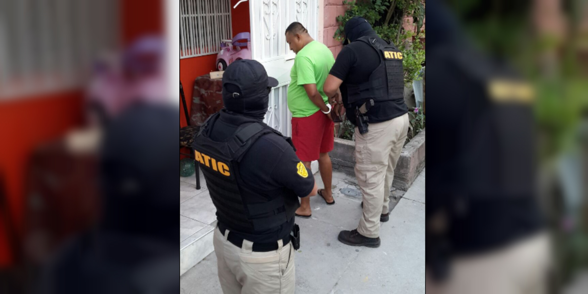 Uno de los capturados este lunes en la Operación Jaguar (Crédito: Ministerio Público Honduras)
