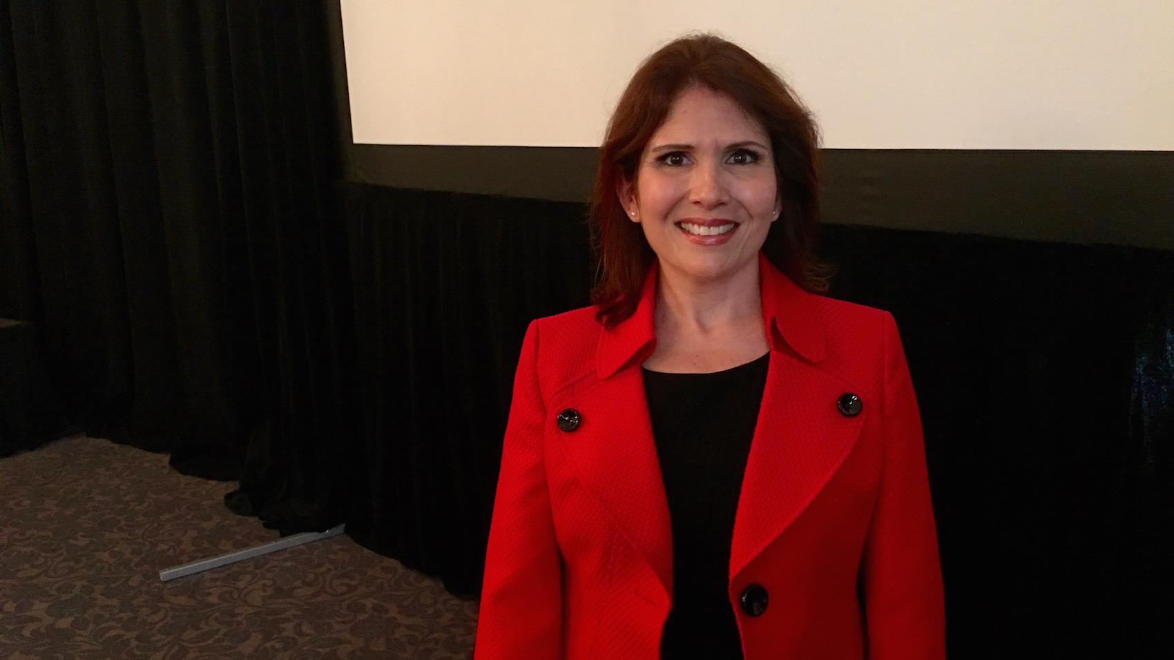 Evelyn Sanguinetti, vicegobernadora del estado de Illinois. (Crédito: Miguel Ángel Antoñanzas/CNN)